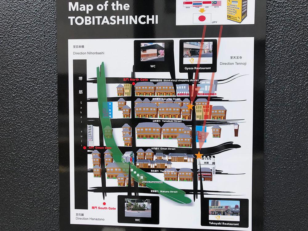 飛田新地の地図(マップ)